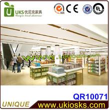 Cutsom made Modern easy operation retail store display&retail store wood display shelf