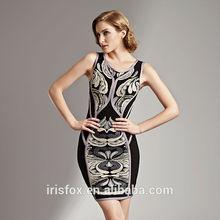 2014 fashion ladies dress latest style sexy mature bandage dress