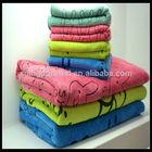 animal microfiber print kids dhildren cheap bath towel towel sets