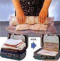 Hand pressing Travel Vacuum Storage Bag roll up Compression Bag