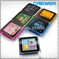 wholesale 1pc/lot 8GB 6th clip mp4 1.5 inch With FM Radio Video Music mp4 mp3 player
