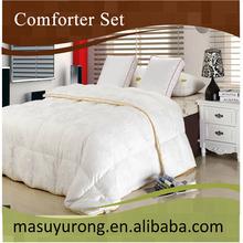 luxurious jacquard white down alternative comforter set MS-020