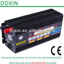 50/60hz Converter! dc 12v to ac 220v car power inverter 1.5kw battery charger