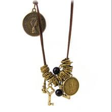 antique key lock pendant necklace Jewelry hardware accessories