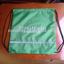 210T reflective polyester/nylon drawstring bag