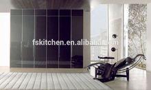solid wood bedroom modular wardrobe with folding door