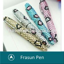 rhinestone ballpoint pen/rhinestone metal pens/crystal rhinestones pen