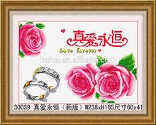 YIWU KAINA HOT DIY3d PINK ROSE DIAMOND PAINTING HANDMADE FASHION BEAUTIFUL DIAMOND PAINTING