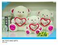 Stuffed suave urso de pelúcia com amor do coração de nice dom brinquedos New