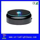 Round black base led lighted acrylic cupcake stand