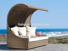 outdoor garden patio furniture rattan sun bed lounger canopy