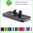 Wholesale guangdong supply leather mobile case with stand for iphone 4/4s whole screen view