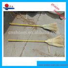 corn broom WITH WOODEN HANDLE