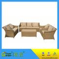 moderna mobília ao ar livre do rattan do jardim antigo sofá de vime conjunto