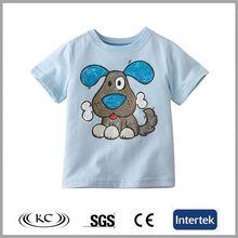 hot sale organic cotton plain dog boy stripe t-shirt with no brand