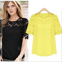 HFR-JN40 2014 fashion lace wholesale woman clothing blouse