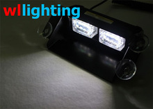 6W Security Vehicles LED Dash Light High Power 6 LED with 4 Strong Suction Cups