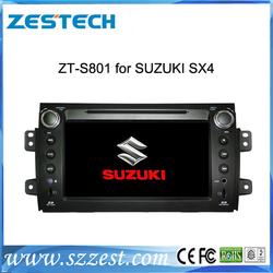 ZESTECH Wholesale HD touch screen double din dvd head unit for Suzuki SX4 gps navigation