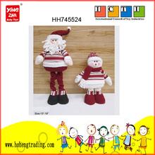 art and craft plush Santa, snow man,Christmas decorations,Lovely Xmas handicraft