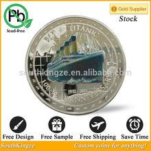 One Troy OZ Silver coin 1912-2012 Titanic Queen Elizabeth II round coin