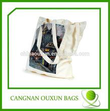 custom high quality eco organic cotton shoulder bag