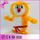 Soft Velboa Material Stuffed Nose and Mouth Delicate Embroidered Eyes 2014 Custom Design Enterprise Mascot Plush Owl Toy
