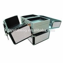 High quality black aluminum frame aluminium box cosmetic case