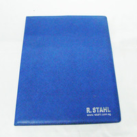 2014 best design novety compact blue PU leather a5 diary cover