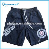 OEM&ODM black short rubber print beach shorts