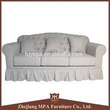 3 seats french Classic Fabric antique design bedroom sofa