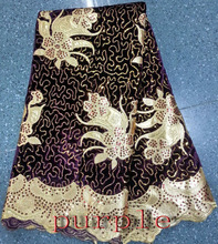 2014 hot sell high quality fashion african velvet lace embroidery sequins fabric