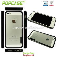 tpu bumper + matte pc backside case for iphone 5