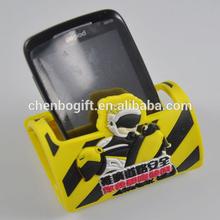 eco-friendly custom high quality 3d soft pvc mobile phone holders