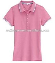 New Fashion 5 buttons Ladies CVC Polo Shirt, Fitting, NO MOQ