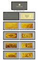 Oro banconota 24k raccolta stati uniti d'america dollors album libro per souvenir regalo