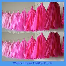 Popular Birthday Party Hanging Tissue Paper Tassel Garland Decorations