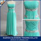 A Line Chiffon Sweetheart Floor Length Dismonds African Evening Dress