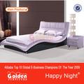 فوشان مصنع أثاث غرفة نوم والأثاث والجلود الأرجواني للبيع( 2821#)