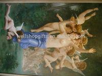 people nude portrait oil painting