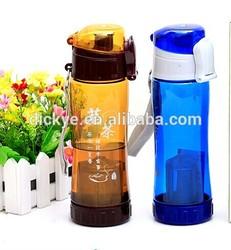 600ml Tritan plastic sports water bottle with stainless steel filtermesh