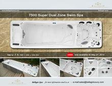 Super New Swim Spa: BI- Zone Hydro Massage Whirlpool, Hot tub SWIM SPA 7.5 Meters Long