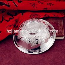 chinese silver pet bowl set
