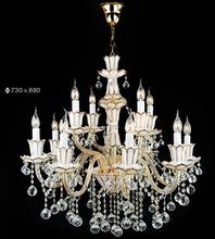 White Hotel Chandelier For Sale