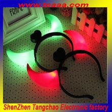 2014 hot selling led flashing devil horns headband