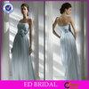 OEM Service A-line Strapless Sweetheart Low Back Pleated Elegant Chiffon Evening Dress