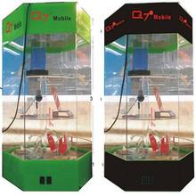 Acrylic mobile display box with led