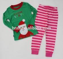 2014 nuovo stile maglia di cotone panni ingrosso bambini natale pigiama