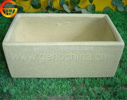 ECO shabby chic stone water trough, fiberglass pots, wood pots