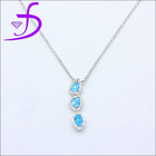 2014 exclusive silver jewellery fashion opal pendants necklace