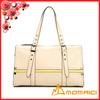 Two tone color design pu leather travelling bag shoulder bag handbag with adjustable handle